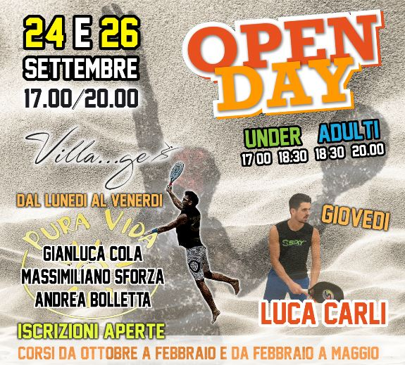 open day b.tennis senza tariffe